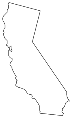 Geo Map - USA - California Contour