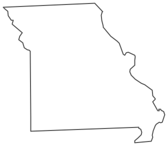 Geo Map - USA - Missouri Contour