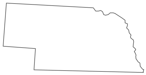 Geo Map - USA - Nebraska Contour