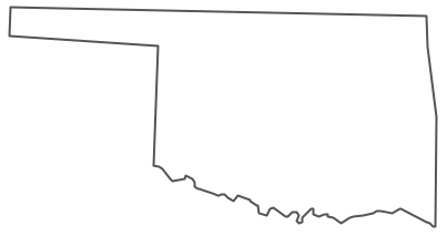 Geo Map - USA - Oklahoma Contour