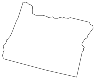 Geo Map - USA - Oregon Contour