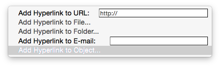 Add hyperlinks to project schedule