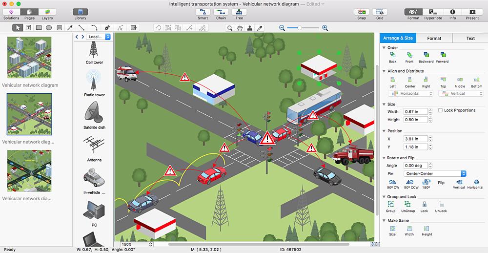 Vehicular Network multipage diagram sample