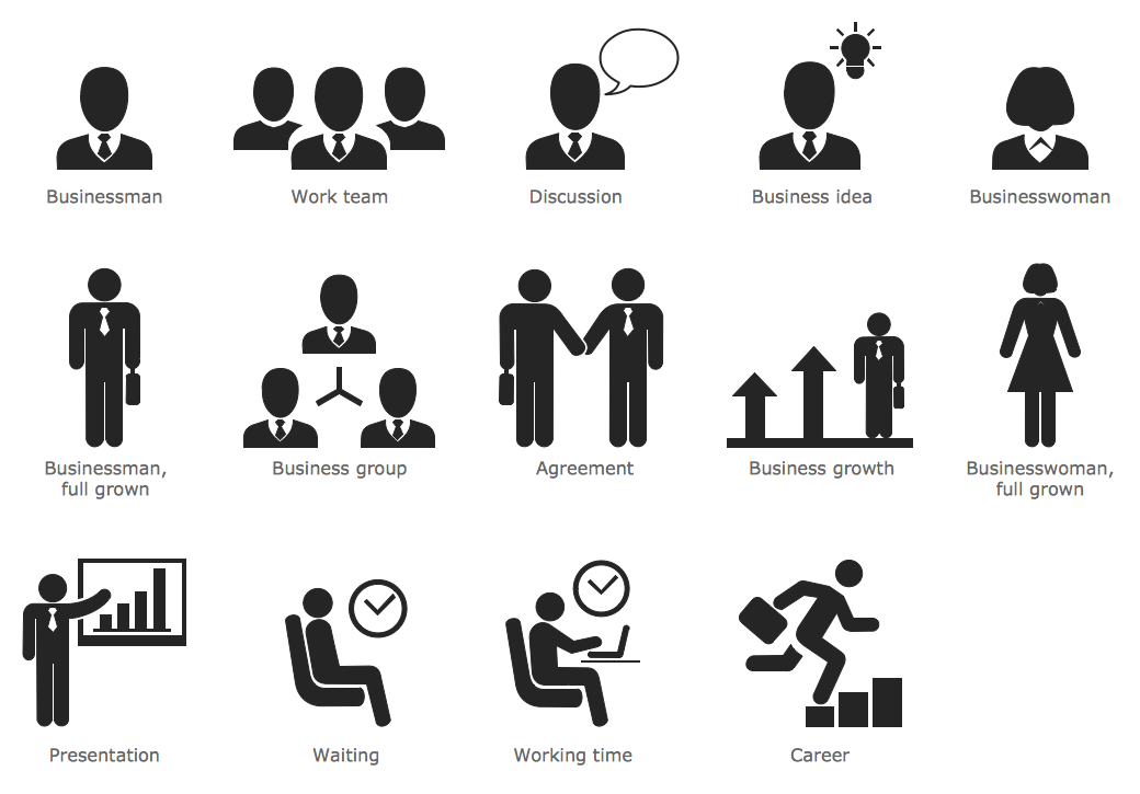 Business People Pictograms
