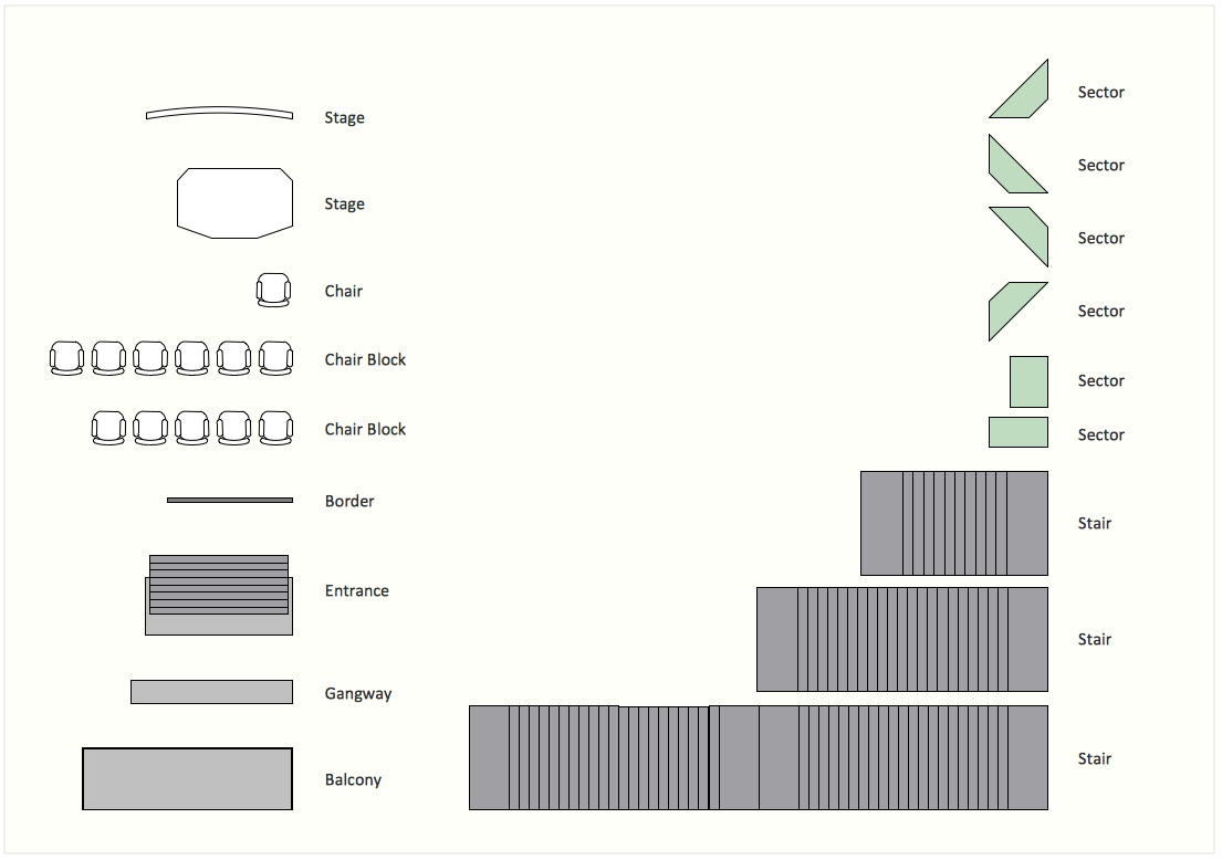 Interior Design Software.  Design Elements — Seating Plan