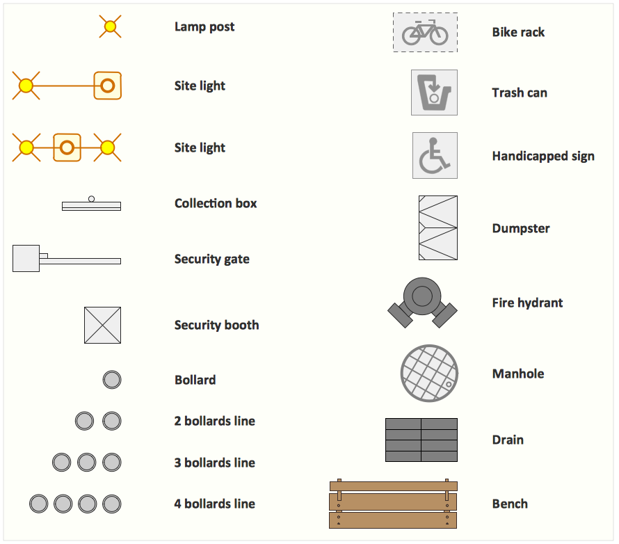 Interior Design Software.  Design Elements — Site Accessories