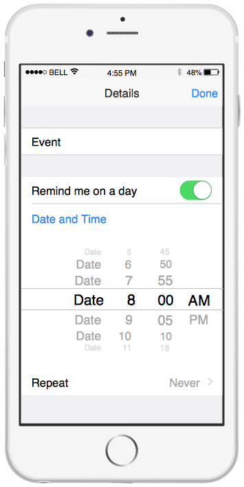 iPhone Programming - Reminders Template