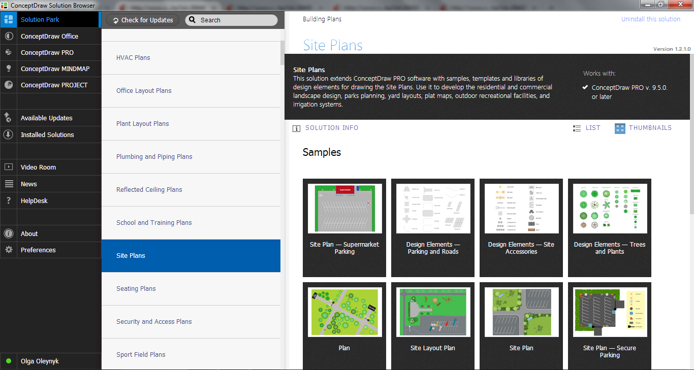 Site Plans Solution in ConceptDraw STORE