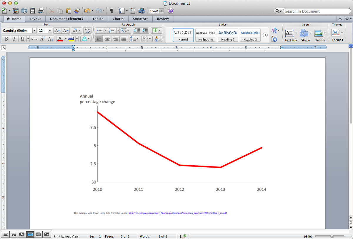 Line Chart Template for Word *