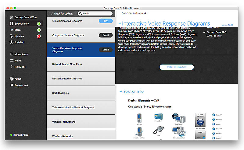 Manage Solutions with ConceptDraw Solution Browser