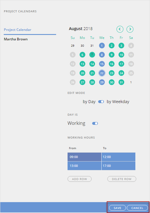 How to Manage an Individual Project Resource Calendar
