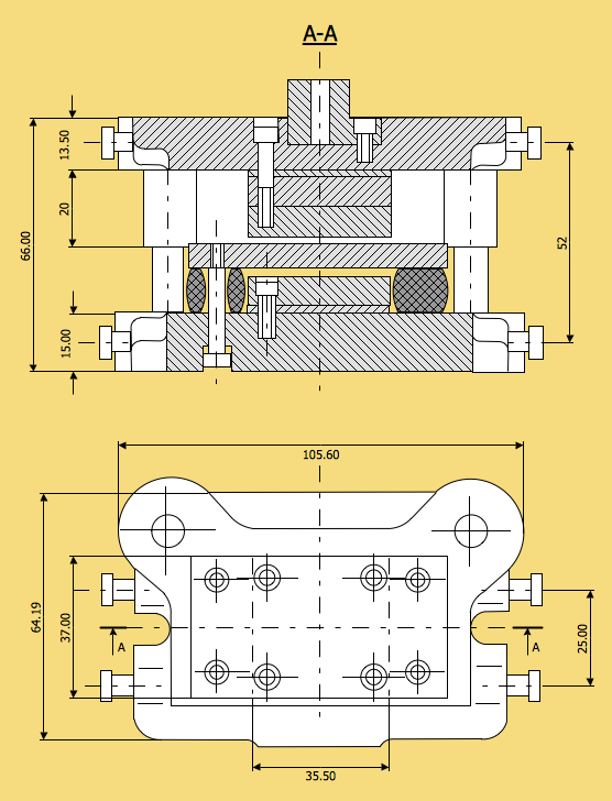 Technical Drawing Die Stacking