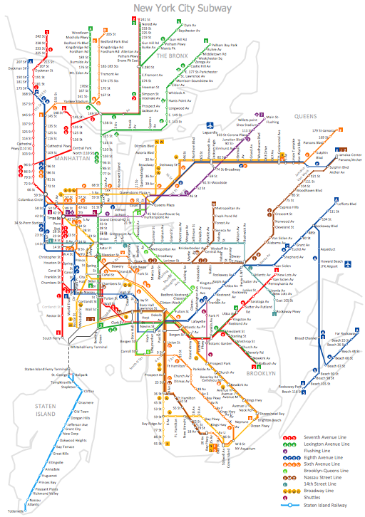 Metro Map – New York City Subway Map