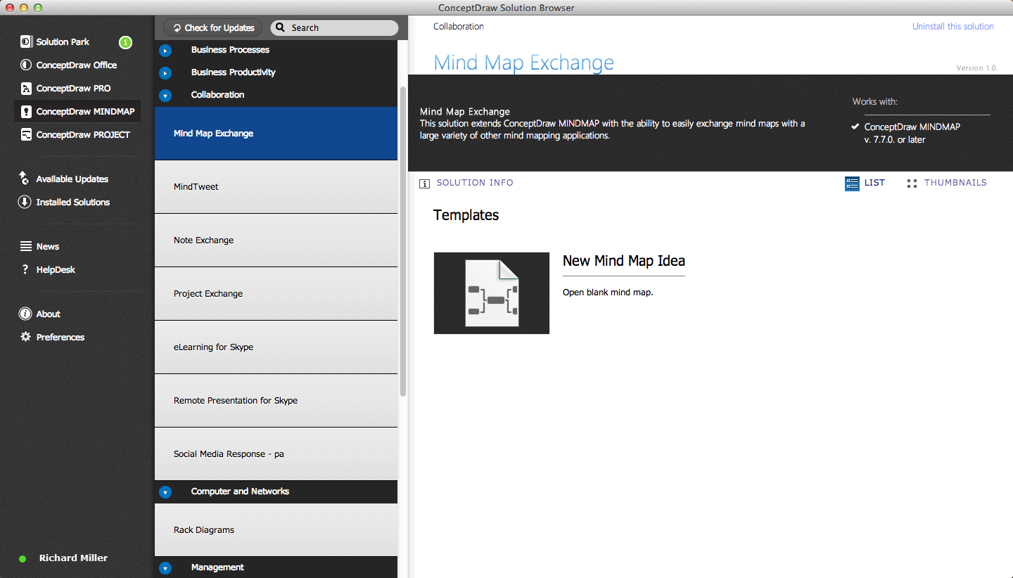 MindMap Exchange Solution in ConceptDraw STORE