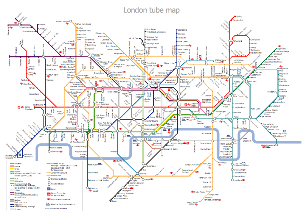 MTA Subway Map - London Tube Map
