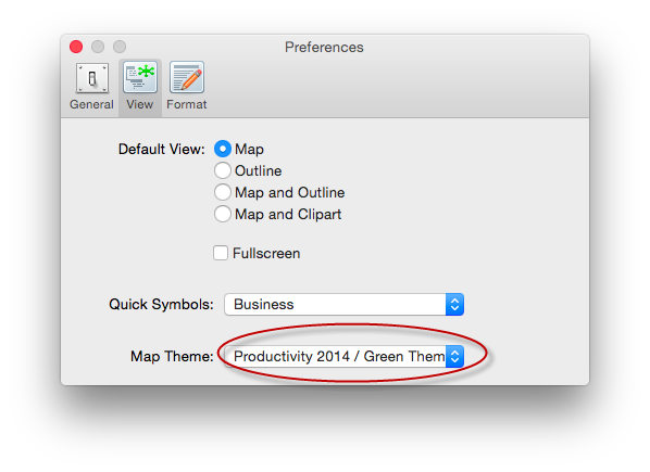Set the Default Theme for your Mind Map on Mac
