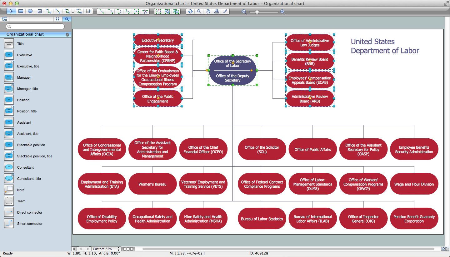 ConceptDraw DIAGRAM v12 - Organogram Software