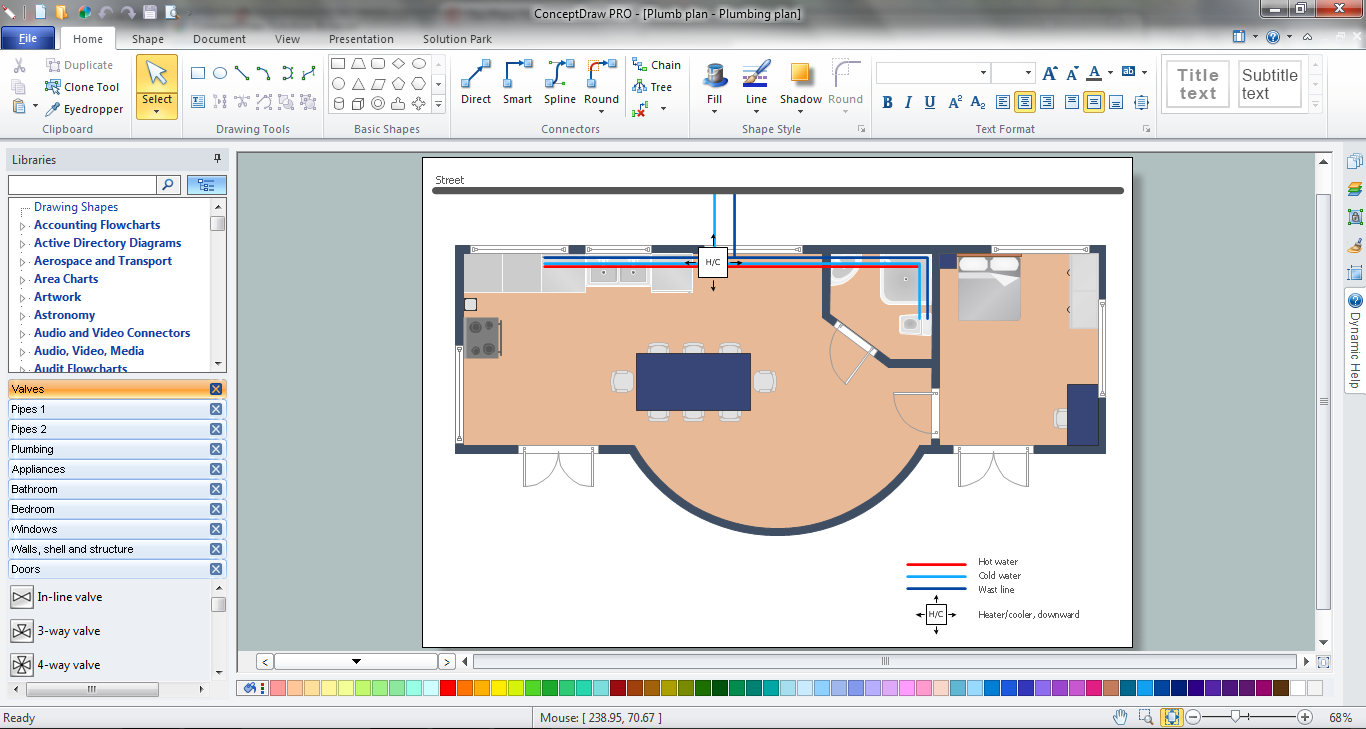 Pipe Bender Plans in ConceptDraw DIAGRAM v12 title=