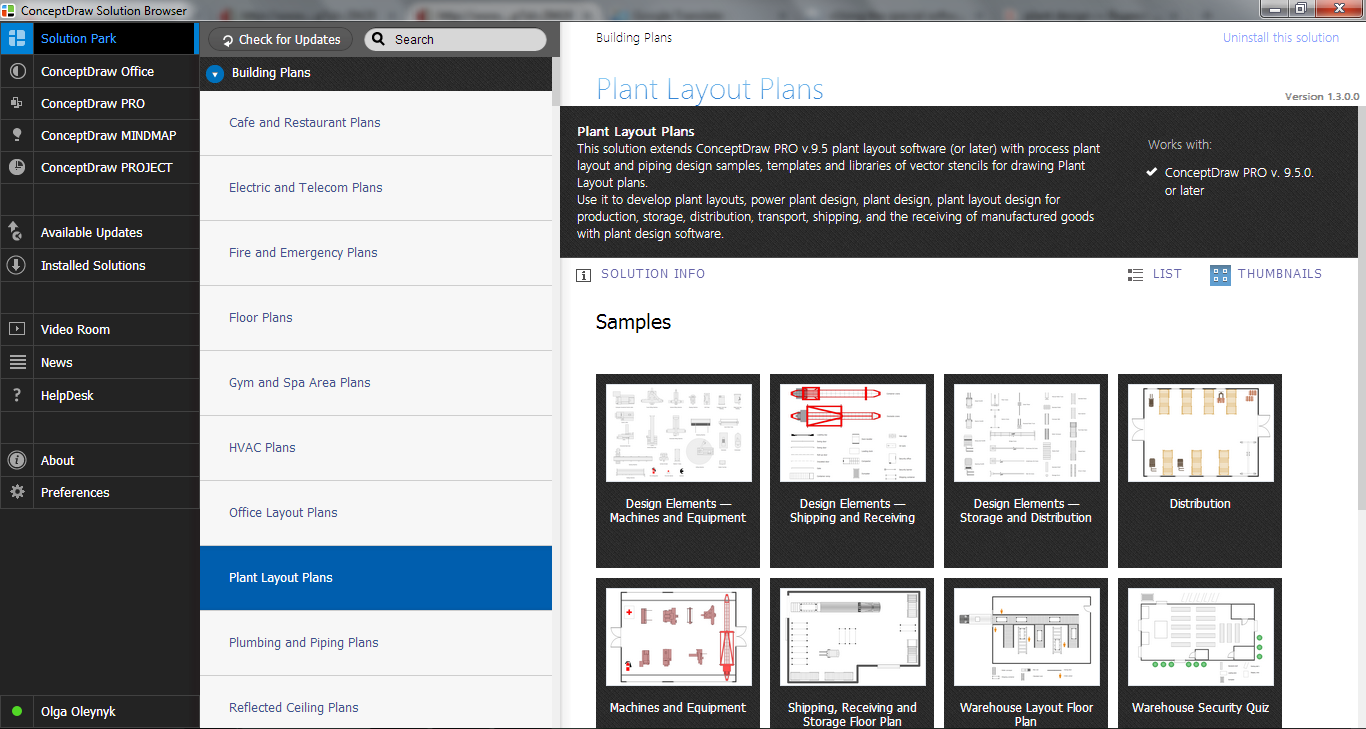 Plant Layout Plans Solution in ConceptDraw STORE