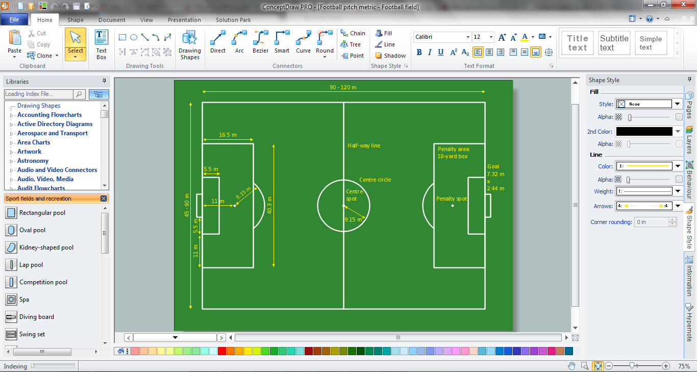 Playground Layout in ConceptDraw DIAGRAM title=