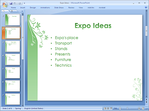 Create PowerPoint Text Slides from Mind Maps
