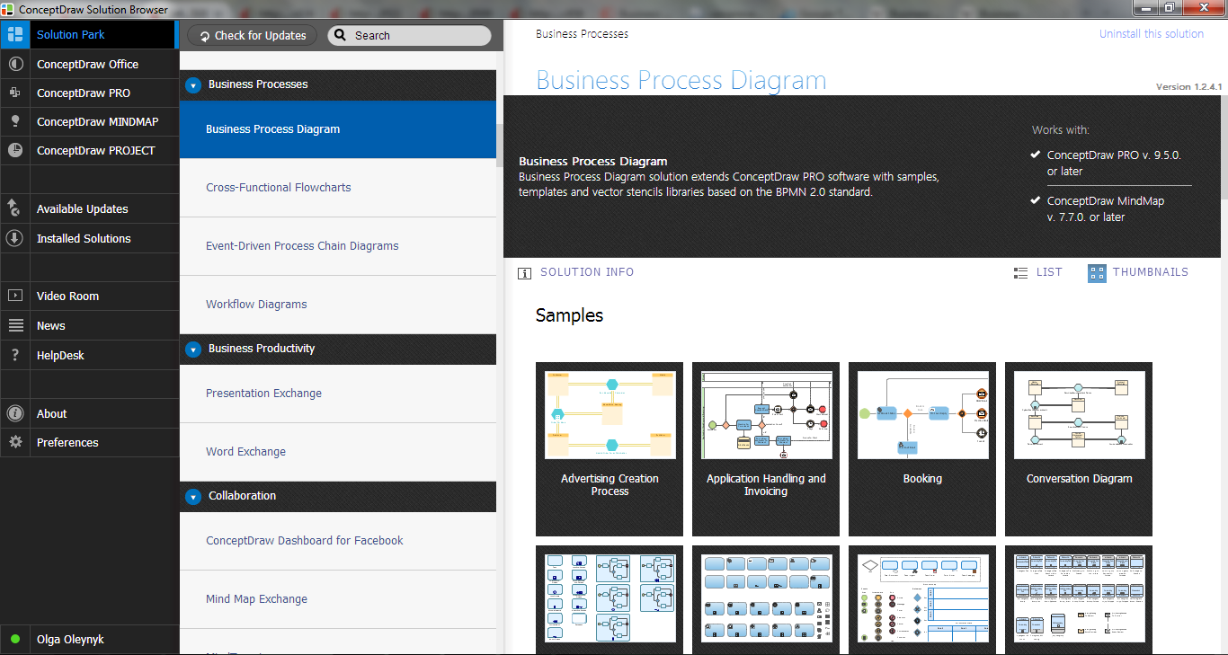 Business Process Diagram Solution in ConceptDraw STORE