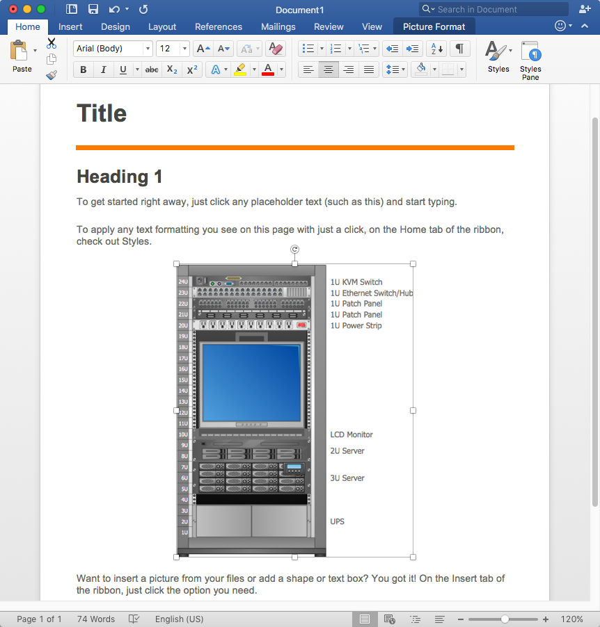 Insert network diagrams into Word document