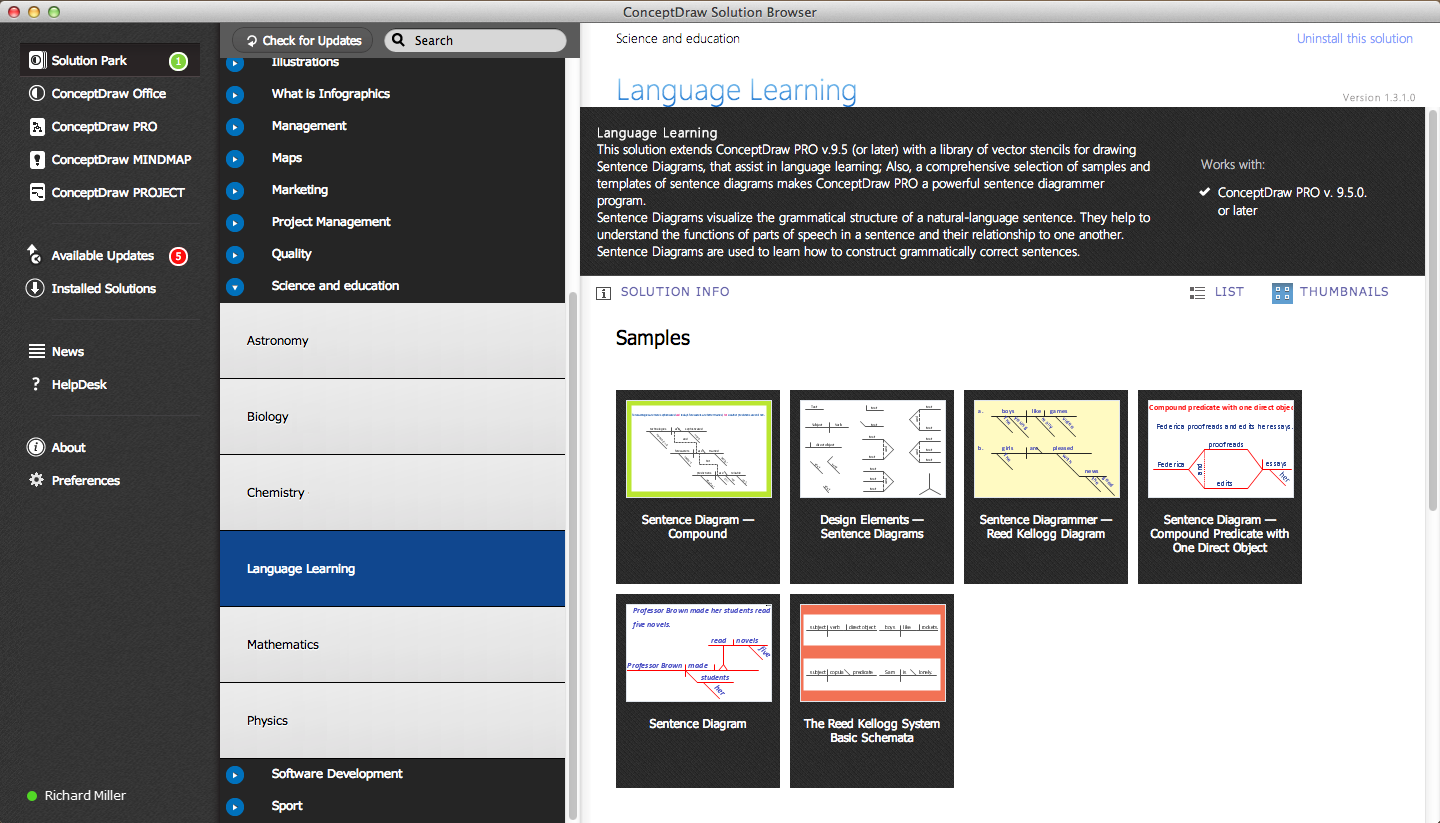 Language Learning solution in ConceptDraw STORE