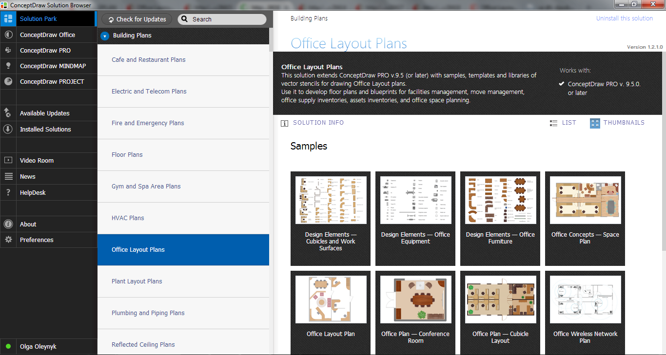 Office Layout Plans Solution in ConceptDraw STORE