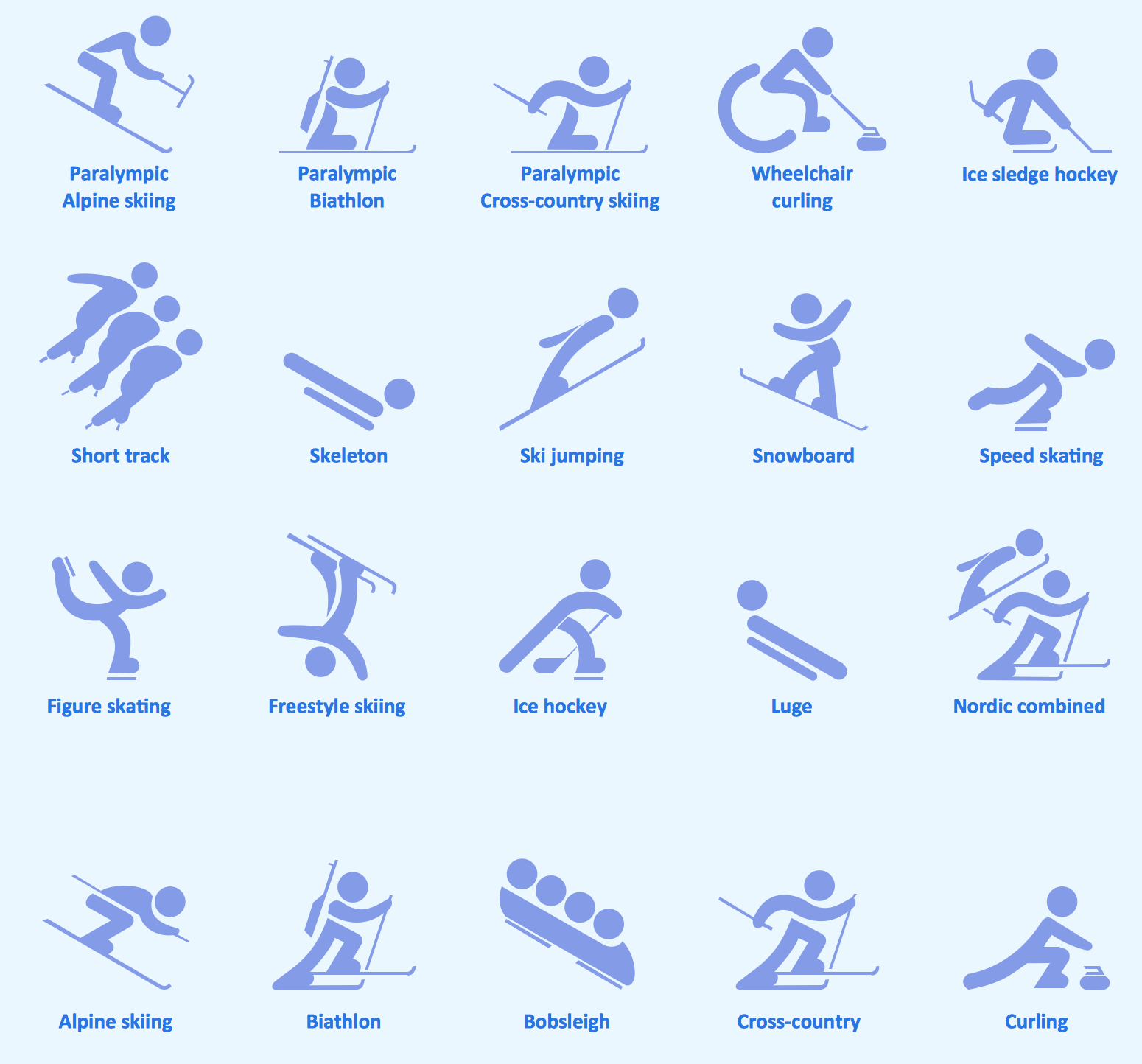 Sport pictograms. Olympic Games