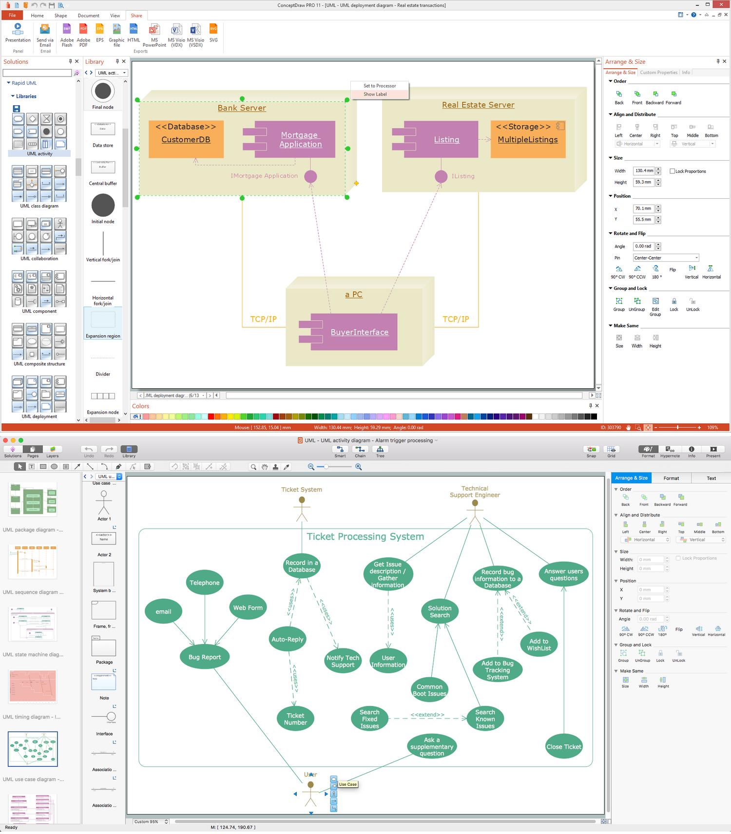 UML Business Process Software