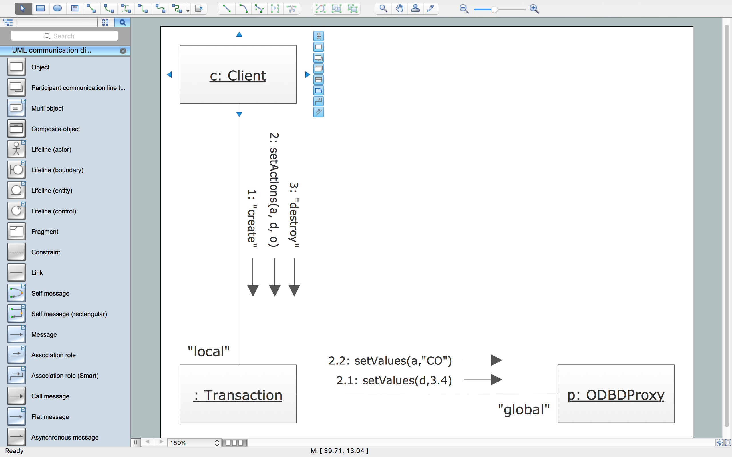 UML Collaboration Diagram Template