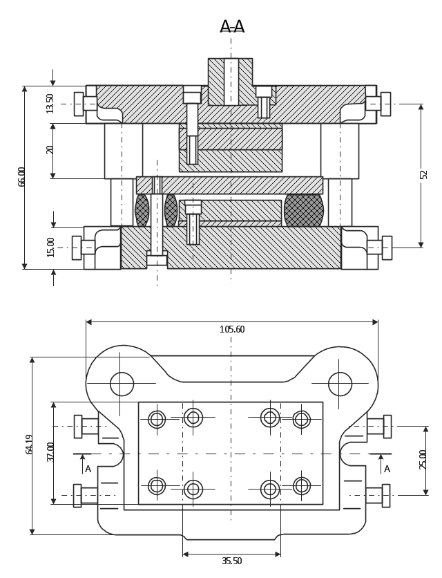 Technical Drawing Machine Parts Assembling