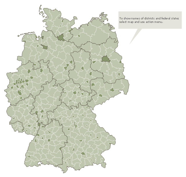 Map of Germany districts