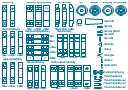 Bearing symbols, undercut, shaft, variable fillet radius, thrust ball bearing, through hole, threaded hole, tapered shaft, tapered key, gib head, taper roller bearing, roller bearing, spindle end, shaft, hollow shaft, shaft chamfer, chamfer, round key, round-end key, rolling bearing, needle roller bearing, roller bearing, hole chamfer, chamfer, gear, spur-gear, double row, spherical roller bearing, roller bearing, double row, self aligning, ball bearing, deep groove, ball bearing, cylindrical roller bearing, roller bearing, cutaway, revealing detail, countersunk hole, centering bore, hole, shaft, angular contact, ball bearing,