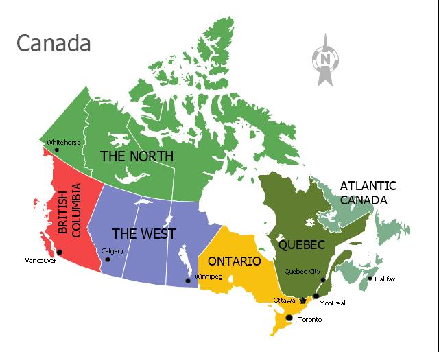 Page1,  North, Canada map contour, Canada map, Canada