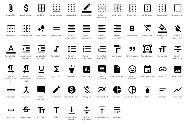 design elements - android system icons  editor
