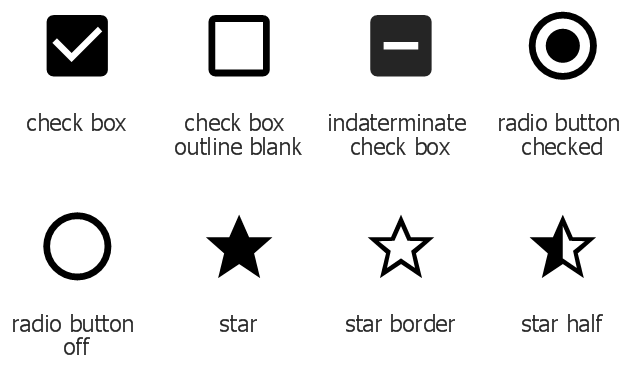 Design elements - Android system icons (toggle) | Design elements