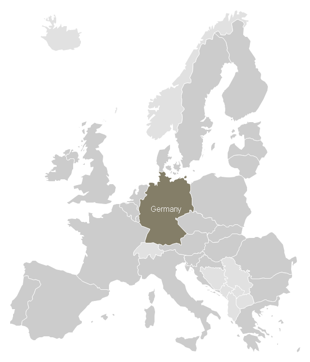 Germany Location Map Template Spatial Infographics Design - Germany map location