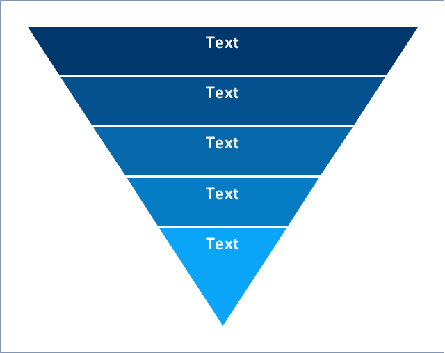 5-level funnel diagram - Template | Pyramid diagrams - Vector ...