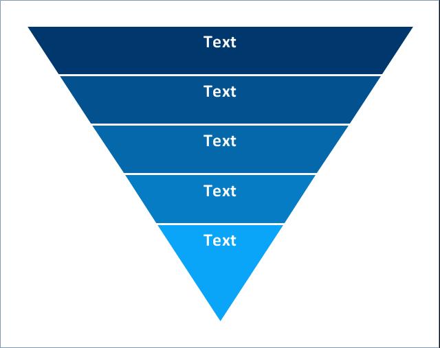 Funnel diagram,  triangular scheme, triangle chart, pyramid diagram, funnel diagram