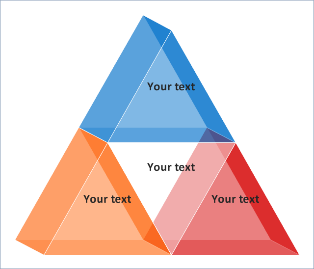 3D Segmented pyramid chart - Template | Segmented pyramid diagram ...