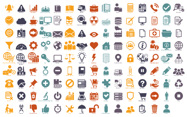 Workflow icons, worker, waste bin, verify, users, user, unlock, umbrella, tools, timer, thumbs up, thumbs down, telecom, supplier, stop, stickman, start, shopping cart, shield, server, security, schedule, scanning, sales, reset, power button, research and development, remove, rejected, reject, recycle, reception, receiving, question, quality assurance, puzzles, puzzle, purchasing, publications, prohibition, production, plus, pin, pie chart, phone, personnel, staff, pencil, pen, pause, paper clip, oscilloscope, operator, customer service, online shop, notebook, mobile phone, minus, medal, marketing, manufacturing, manager, management, mail service, magnifying glass, logistics, lock, location mark, list, lightning, light bulb, legal, scales of justice, laptop, key, international, earth, globe, international sales, international marketing, international division, information system, information service, info, information, hr, humans resources, house, home, heart, handshake, group, globe, earth, gears, gear, gauge, funnel, form, folder, first aid kit, file, fax, factory, facility, eye, event, envelope opened, envelope closed, engineering, engineering drawing, end, employee badge, email, edit, documents, document, display, design, database, data entry, keyboard, danger, radiation, customer service, copy center, copier, contract, computer, coffee cup, cloud, clock, check in, audit, check, call, calendar, calculator, buyer, consumer, building, briefcase, books, book opened, book closed, board of directors, bar chart, attention, alert, bell, USB flash drive,