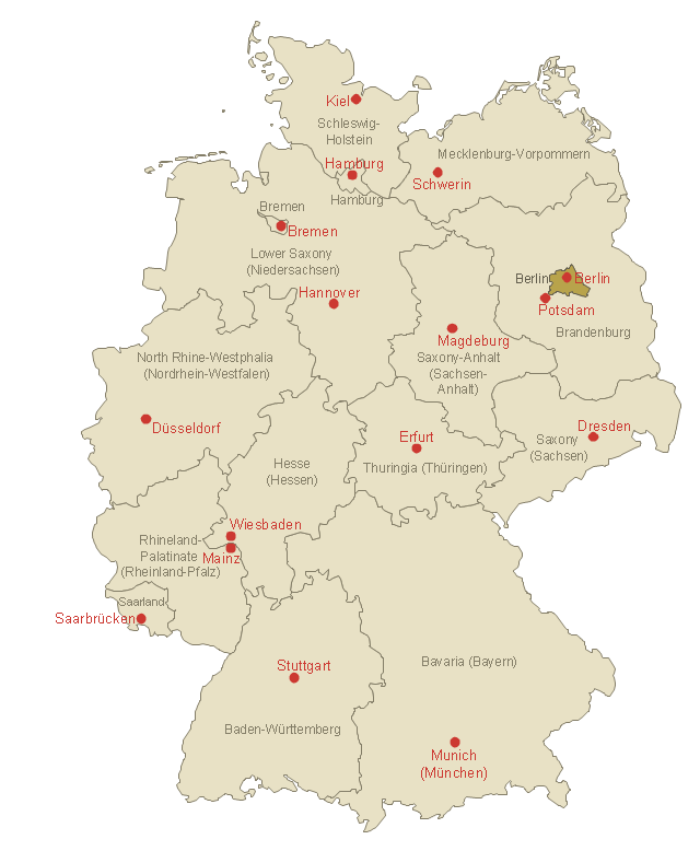 Locator map of Berlin Template