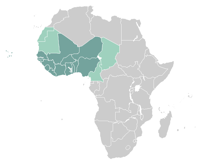 Political map - West Africa, Africa,