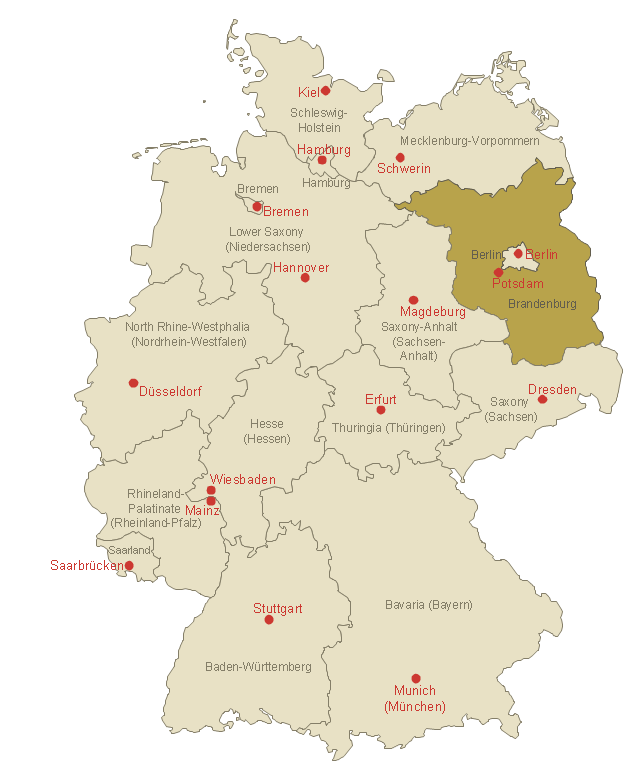 Germany location map Template Map of Germany in Eurozone EU