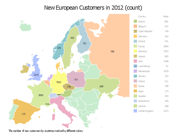 Location intelligence dashboard, Europe,