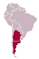 Political map - Argentina in South America, South America, South America map,