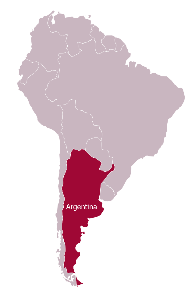 Argentina In South America Political Map - Where is argentina