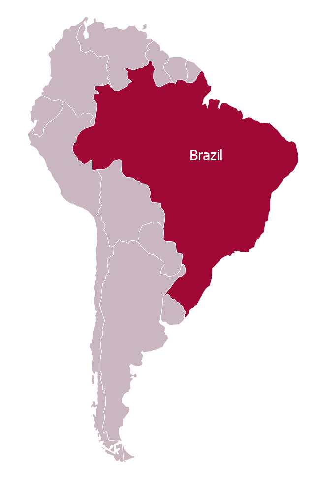 Political map - Brazil in South America, South America, South America map,